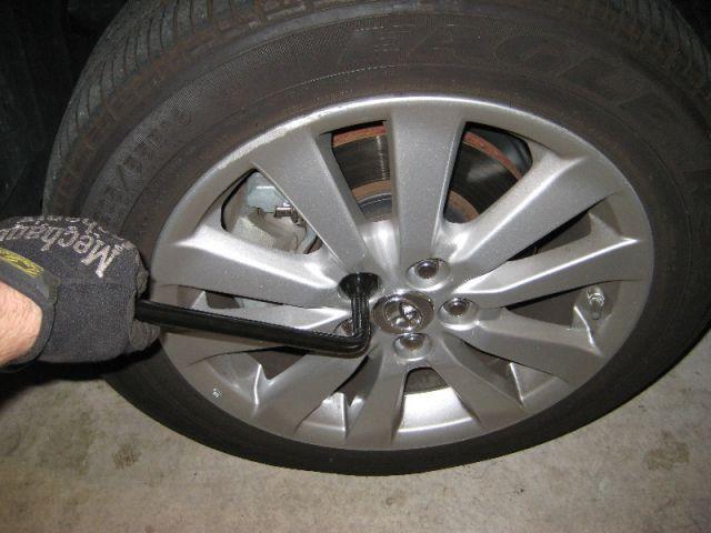 Откручиваем колесо