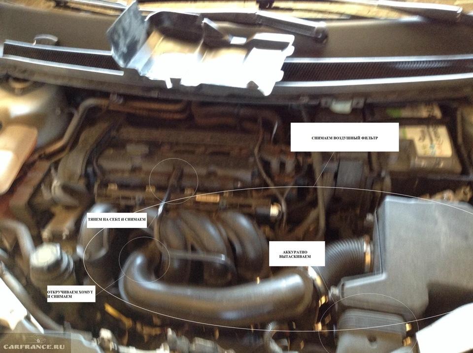Алгоритм снятия стартера на Форд Фокус 2