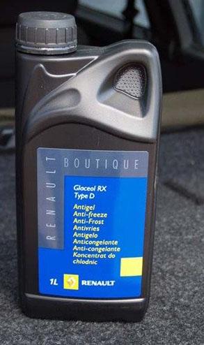 Концентрат Renault Glaceol RX Type D для Рено Логан охлаждающая жидкость