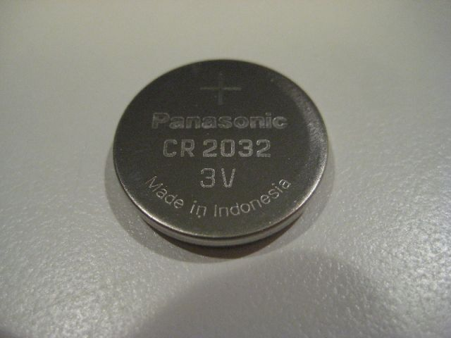 Батарейка от ключа зажигания Panasonic CR 2032 для Хёндая Солярис