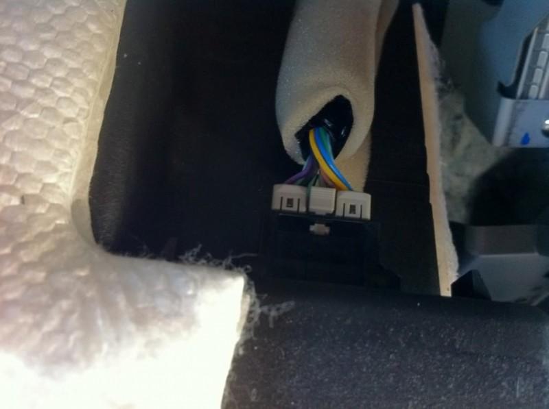 Разъёмы проводов выключателя подушки безопасности