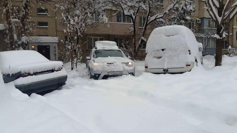 фото дастера в снегу