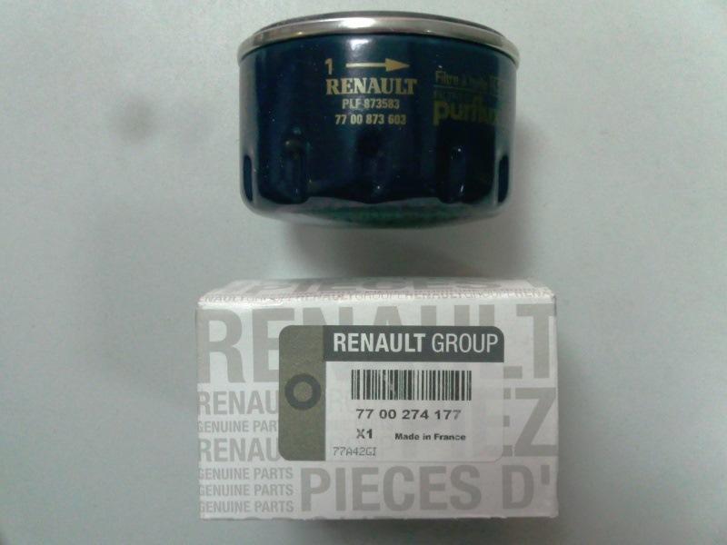 Внешний вид оригинальной масляного фильтра и упаковки Рено Логан 1.4 8 клапанов K7J