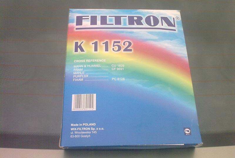 Аналог салонного фильтра Filtron K 1152 на Рено Логан