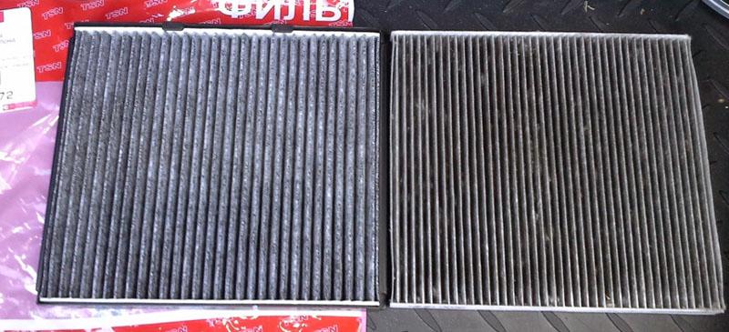 Чистый и забитый воздушный фильтр на Хёндай Солярис