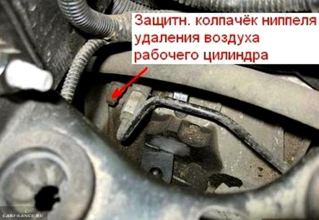 Колпачок нипеля для стравливания воздуха из системы сцепления форд фокус 2