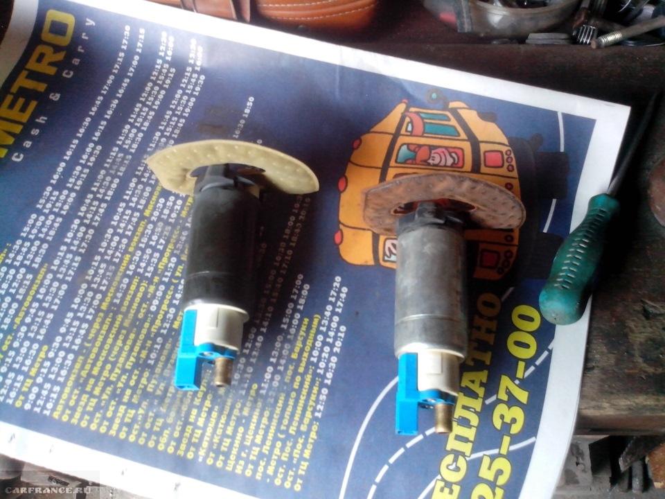 Старый и новый элементы бензонасоса на Форд Фокус 2