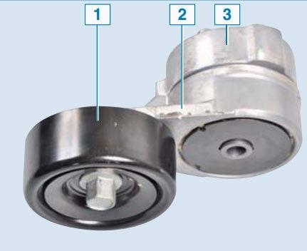 Схема и устройство ролика натяжителя ремня генератора Хендай Солярис
