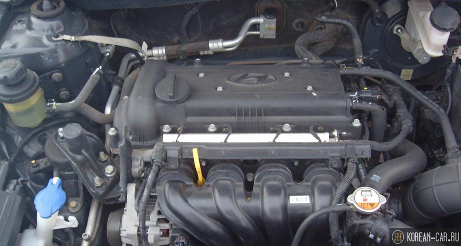 Двигатель 1,6 литра (G4FC) на Хендай Солярис