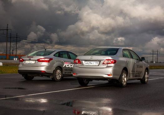 Модели Corolla и Focus