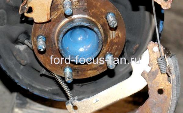 Замена Задних Колодок Форд Фокус 2 Барабан