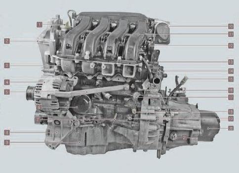 Система смазки двигателей K4M и K7M-K7J