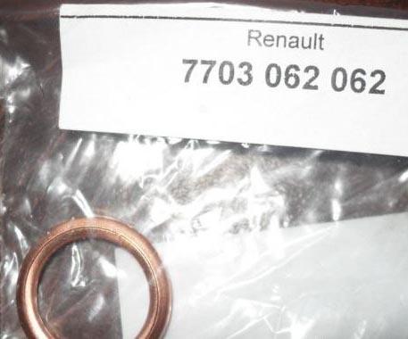 Уплотнительное кольцо на сливную пробку МКПП Рено Дастер