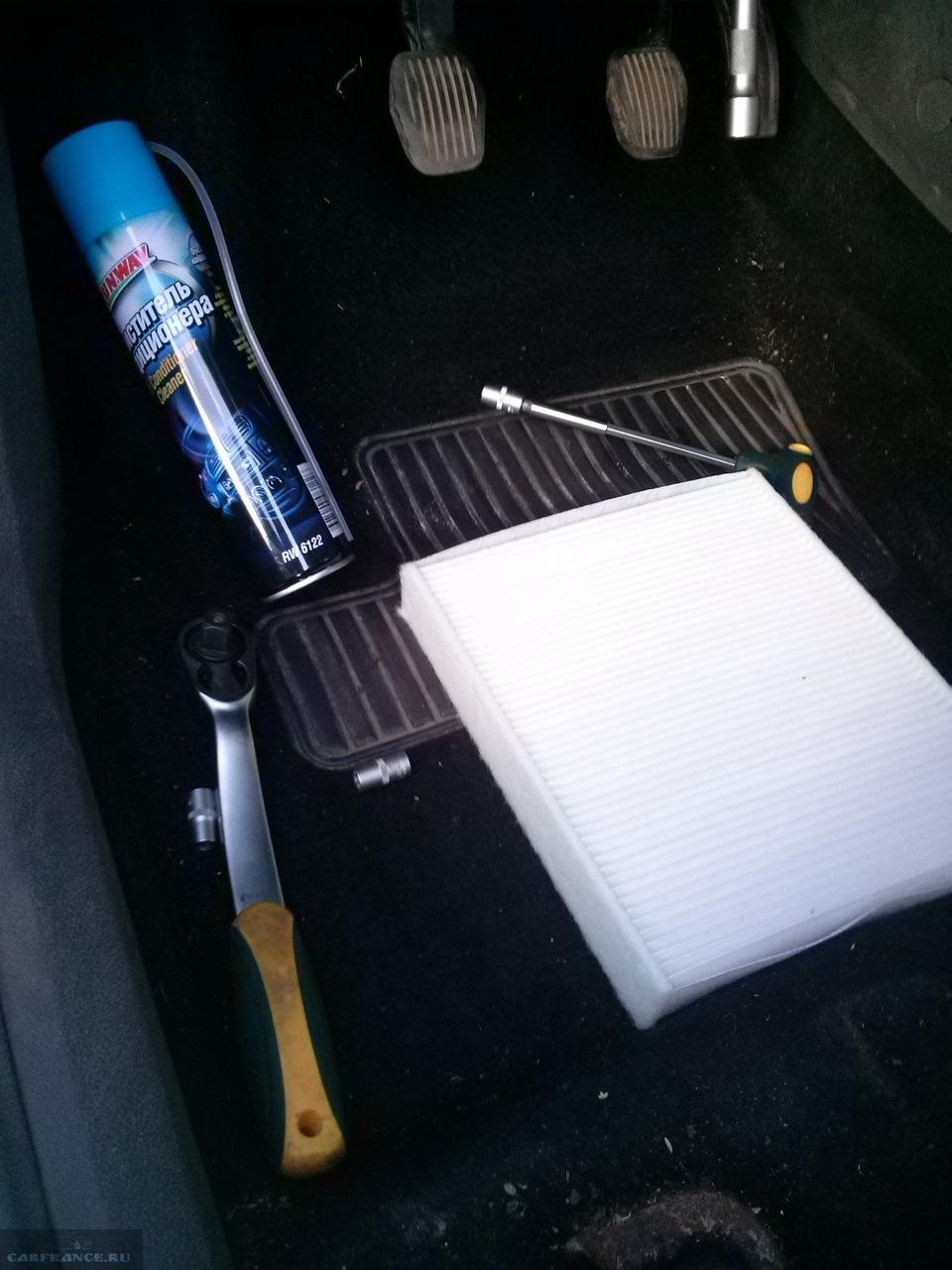 Не угольный фильтр обычный пылевой на Форд Фокус 2