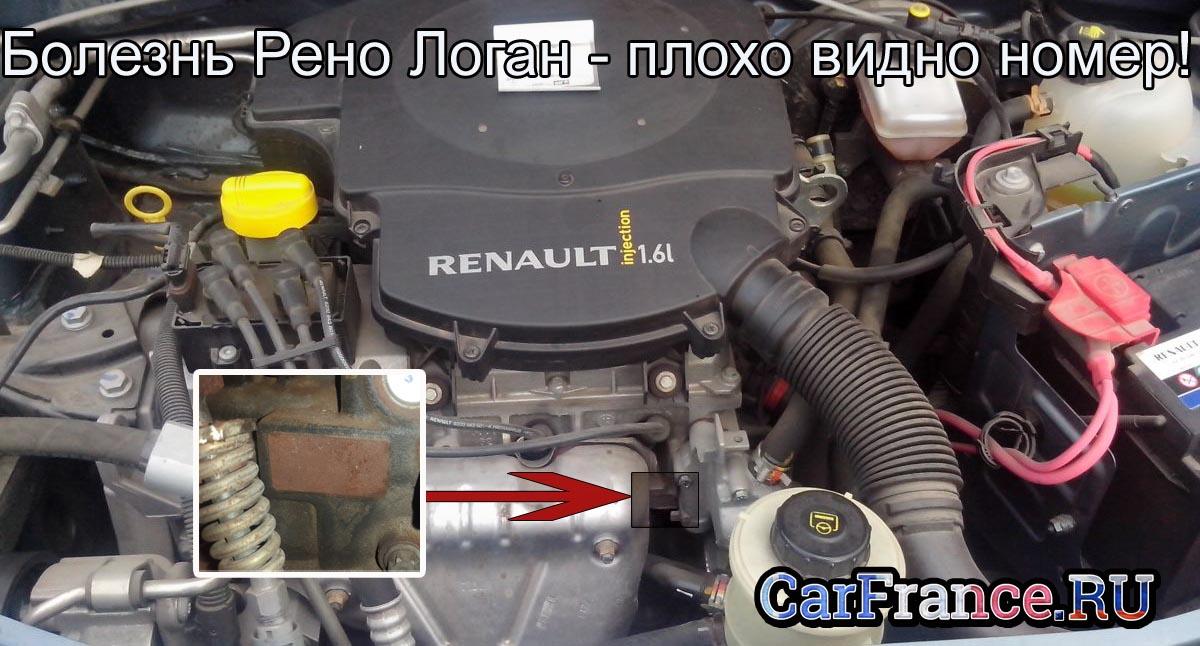 Номер двигателя рено сандеро