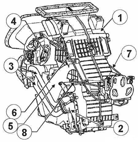 Схема отопителя «Рено-Логан»