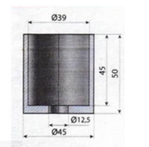 Проставка с размерами для удаления сайлентблоков прямого поперечного рычага на Форд Фокус 2