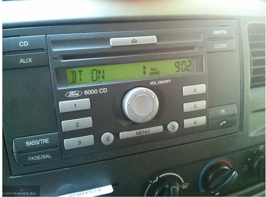 Блютуз включен на магнитоле 6000CD Форд Фокус 2