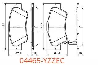 Колодки 04465-YZZEC