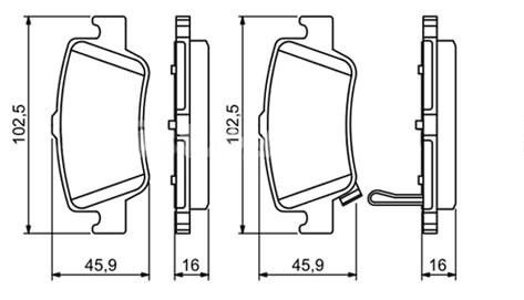 Задние колодки для авто с дизельным мотором