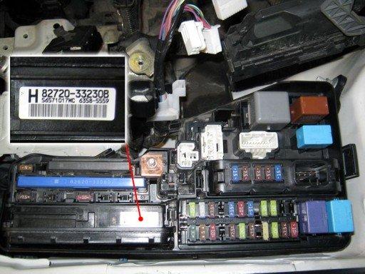 Toyota Camry XV50 - Каталожный номер интегрированного реле