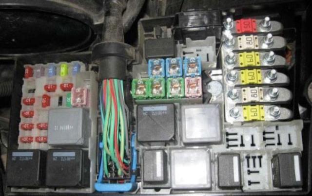 Электропредохранители в блоке
